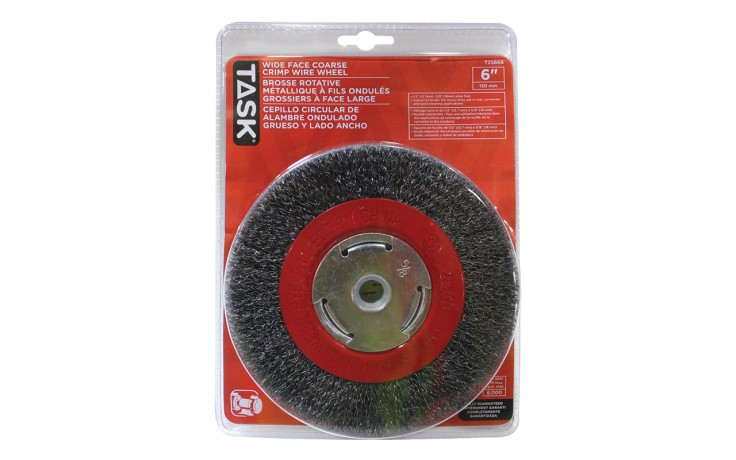"6"" Coarse Steel Industrial Crimp Wheel Wide Face - 1/pack"