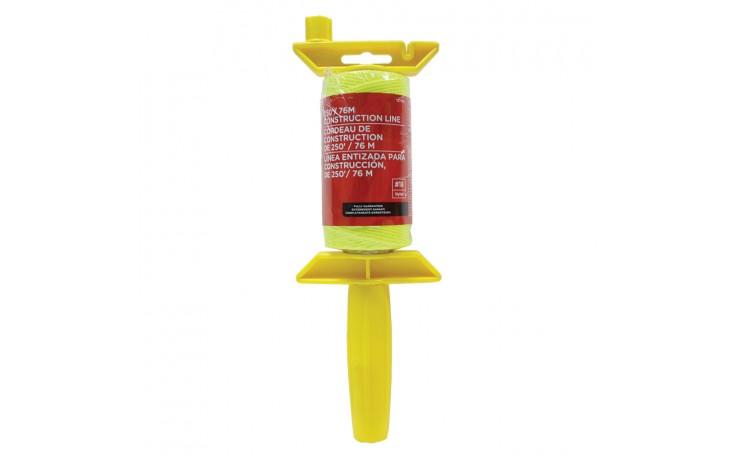 250' Yellow Braided Nylon Construction Line Reel