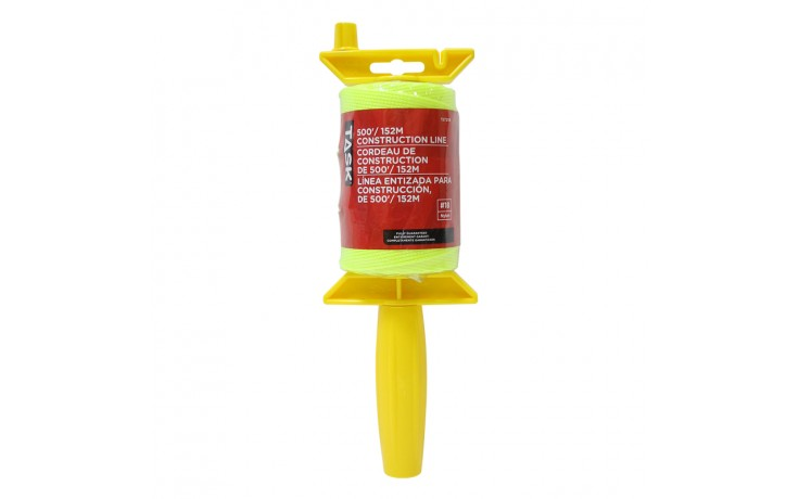500' Yellow Braided Nylon Construction Line Reel