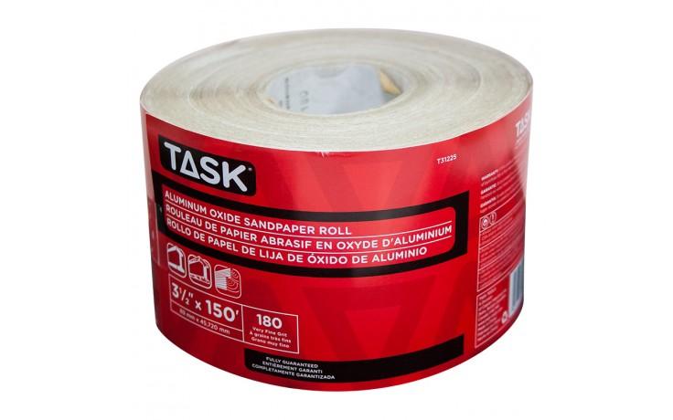 "3-1/2"" x 150' 180 Grit Very Fine Aluminum Oxide Rolls - 1/pack"