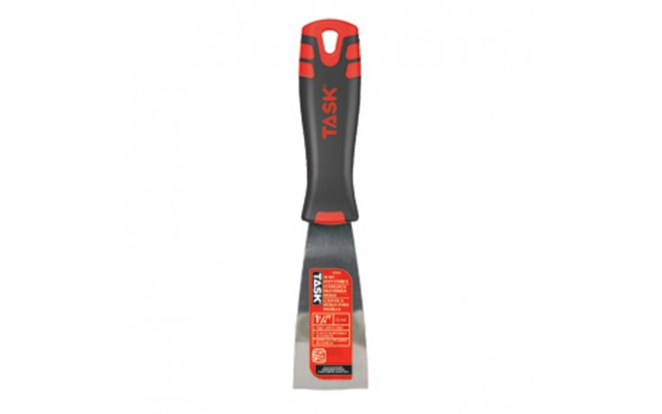 "1-1/4"" Stiff High Carbon Steel Putty Knife with FlexFit Grip"