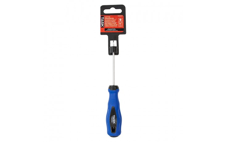 """1/8"""" Slotted 3"""" Soft Grip Screwdriver - 1/pack"""