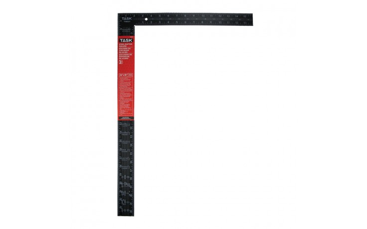 "24"" Steel Rafter Square (White on Black)"