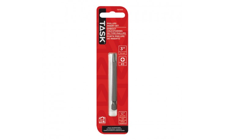 "#3 PH 3"" Screwdriver Bit - 1/pack"