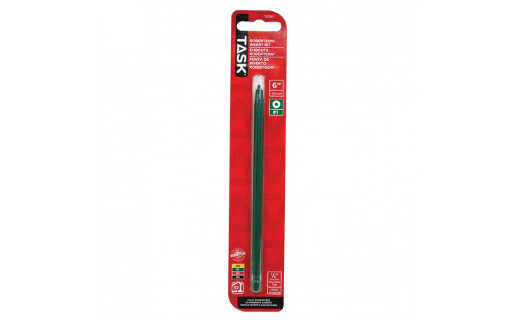 "#1 Robertson® 6"" Green Two-Piece Screwdriver Bit - 1/pack"