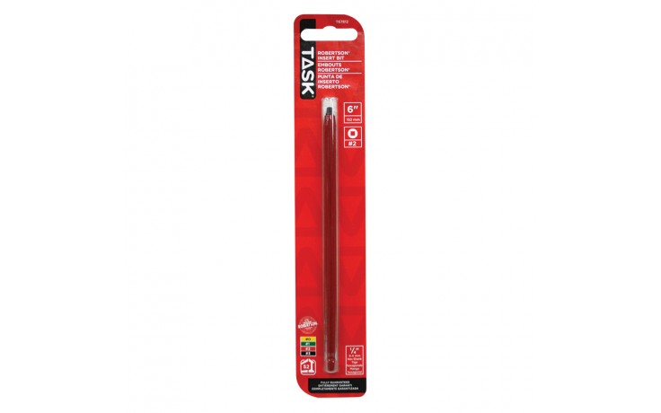 "#2 Robertson® 6"" Red Two-Piece Screwdriver Bit - 1/pack"