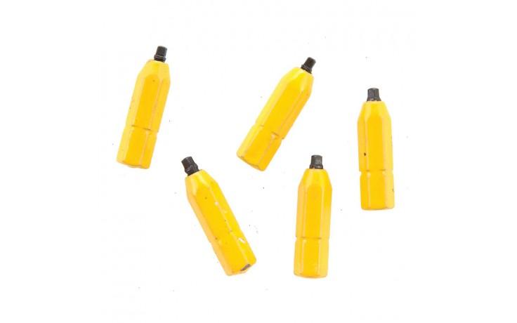 """#0 Robertson® 1"""" Yellow Two-Piece Screwdriver Bit - Bulk"""