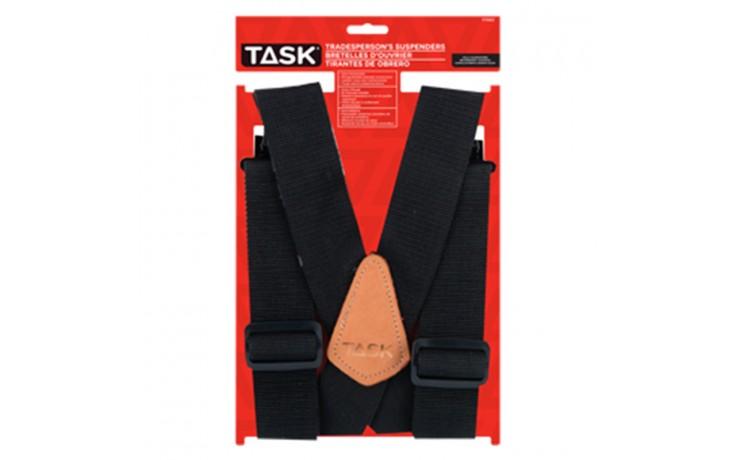 Partial Elastic Black Suspenders - 1/pack