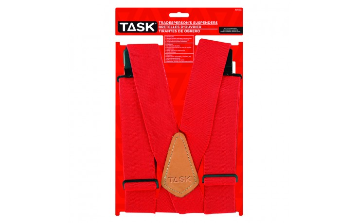 Full Elastic Red Suspenders - 1/pack