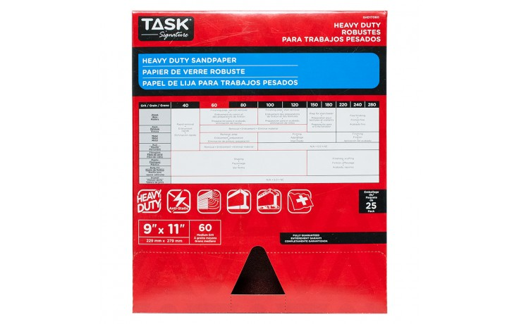 "9"" x 11"" 60 Grit Medium Task Signature Heavy Duty - Bulk"