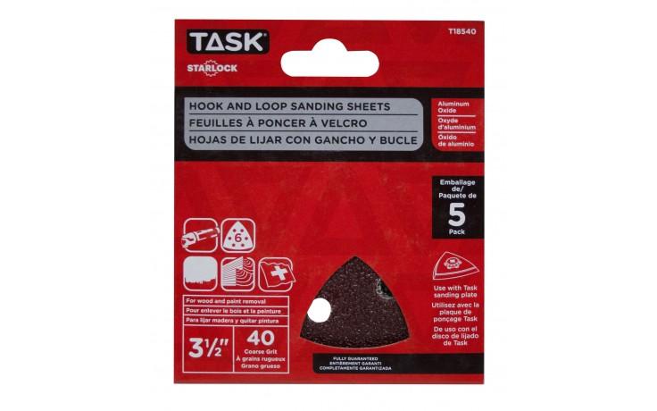 "3 1/2"" 6 hole 40 grit Starlock Sanding Sheets - 5/pack"