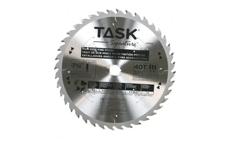 "7-1/4"" 40T HG Hollow Ground Fine Finishing Blade - Bulk"