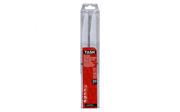 "12"" 5/8 TPI 0.062"" Reciprocating Blade for Wood & Nail Demolition - 20/pack"