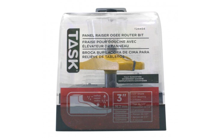 """Raised Panel  1/2"""" Bearing 3"""" x 5/8"""" Carbide Ht. Ogee 1/2"""" Shank Router Bit - 1/pack"""