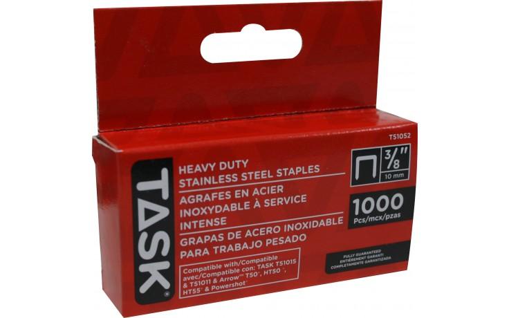 "3/8"" (10mm) Heavy Duty Stainless Steel Staples - 1000/pack"