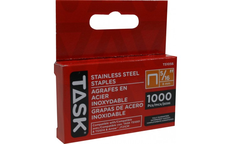 "5/16"" (8mm) Stainless Steel Staples – 1000/pack"