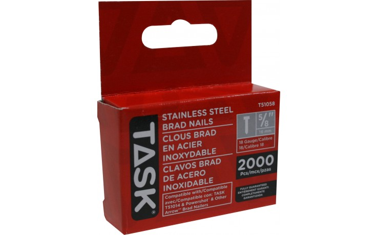 """5/8"""" (16mm) Stainless Steel Brad Nails - 2000/pack"""