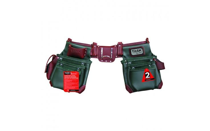 Green & Burgundy 11 Pocket Component Apron System - 1/pack