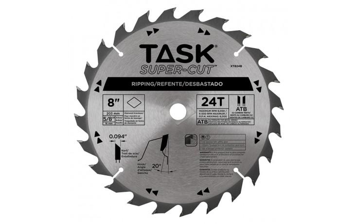 "8"" 24T ATB Supercut Framing & Decking Blade - Bulk"