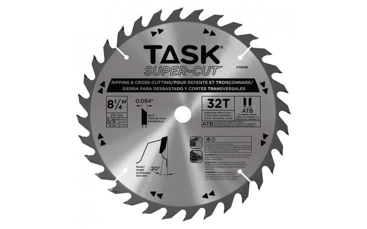 "8-1/4"" 32T ATB Supercut Ripping & Cross-Cutting Blade - Bulk"