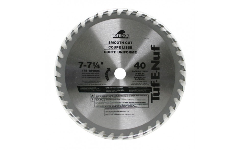 "7-1/4"" 40T ATB Fine Finishing Blade - Bulk"
