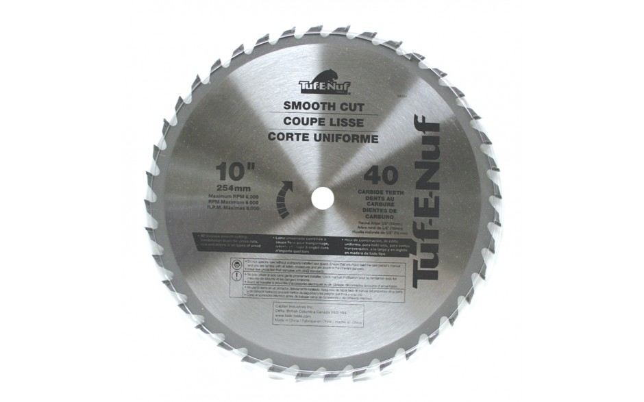 "10"" 40T ATB Ripping & Cross-Cutting Blade - Bulk"