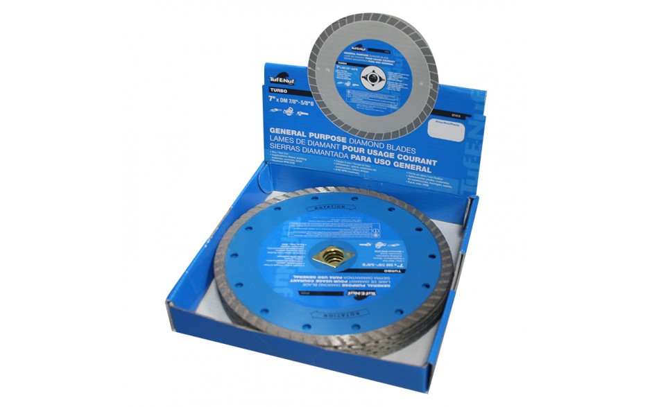 "7"" Turbo Diamond Blade - 10 per Display Box"