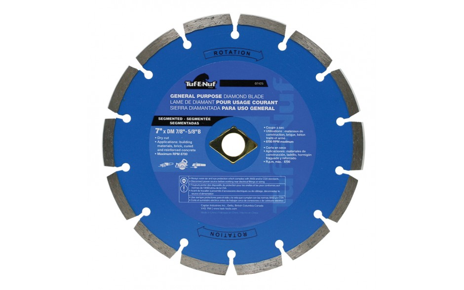 "7"" Segmented Diamond Blade - 10 per Display Box"