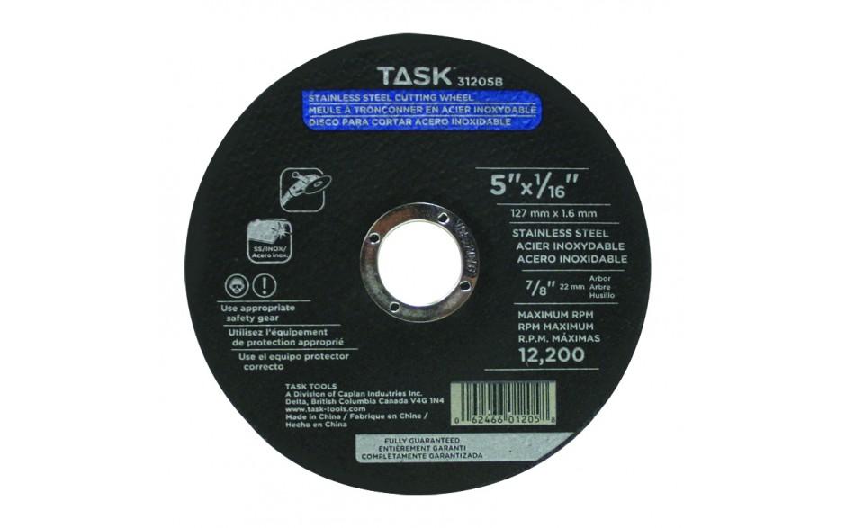 "5"" x 1/16"" 7/8"" Arbor Stainless Steel Cutting Wheel - Bulk"