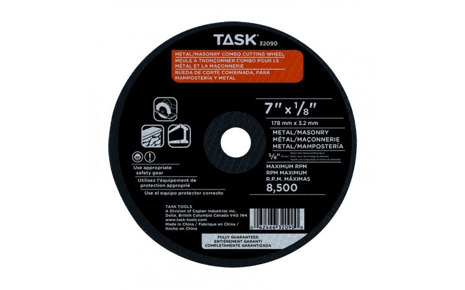 "7"" x 1/8"" 5/8"" & Diamond Arbor Combo Cutting Wheel - 1/pack"