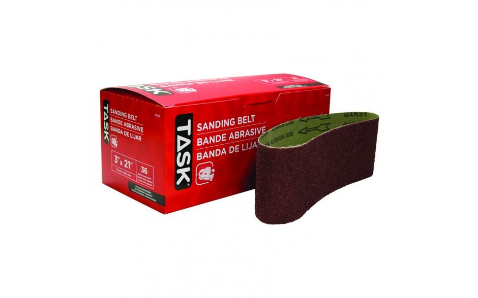 "3"" x 21"" 36 Grit Sanding Belt - Boxed"