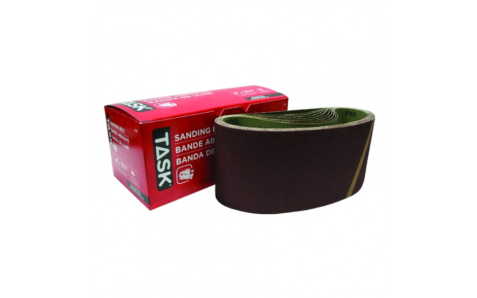 "4"" x 21-3/4"" 80 Grit Sanding Belt - Boxed"