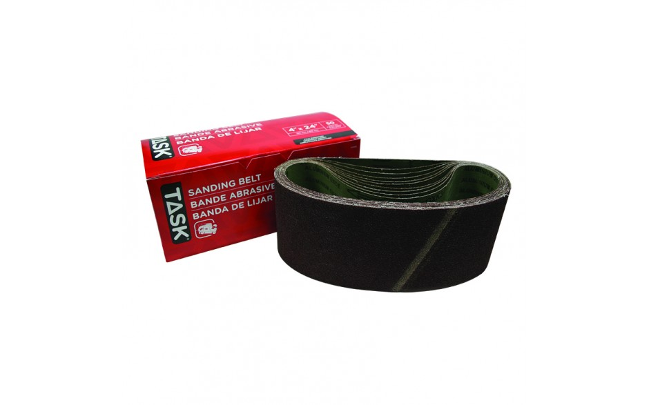 "4"" x 24"" 50 Grit Sanding Belt - Boxed"