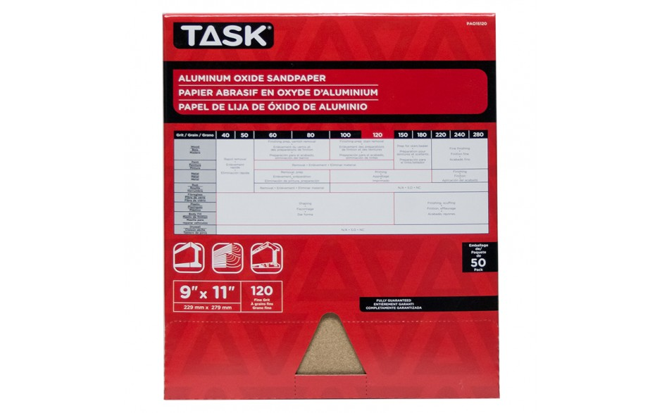 """9"""" x 11"""" 120 Grit Fine Premium Aluminum Oxide Sandpaper - Bulk"""