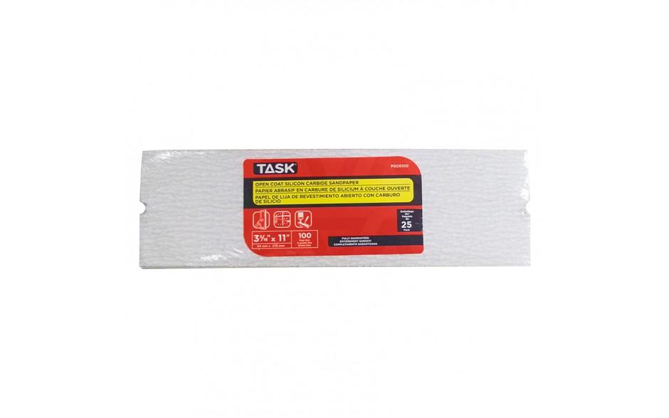 """3-5/16"""" x 11"""" 100 Grit Fine Drywall Sandpaper - Bulk"""