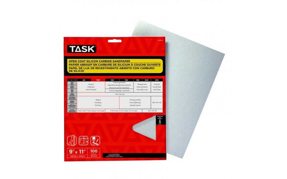 "9"" x 11"" 100 Grit Fine Drywall Sandpaper - 5/pack"