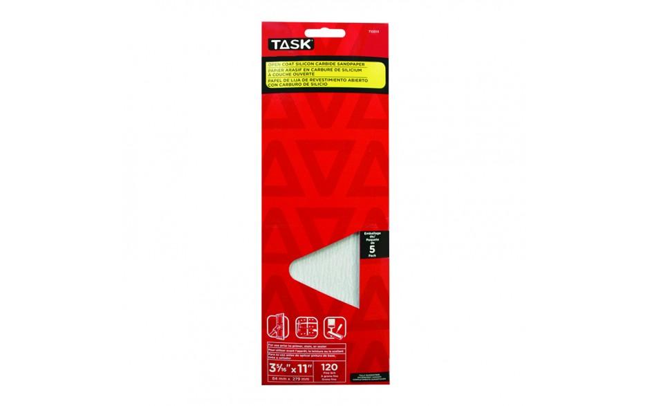 "3-5/16"" x 11"" 120 Grit Fine Drywall Sandpaper - 5/pack"