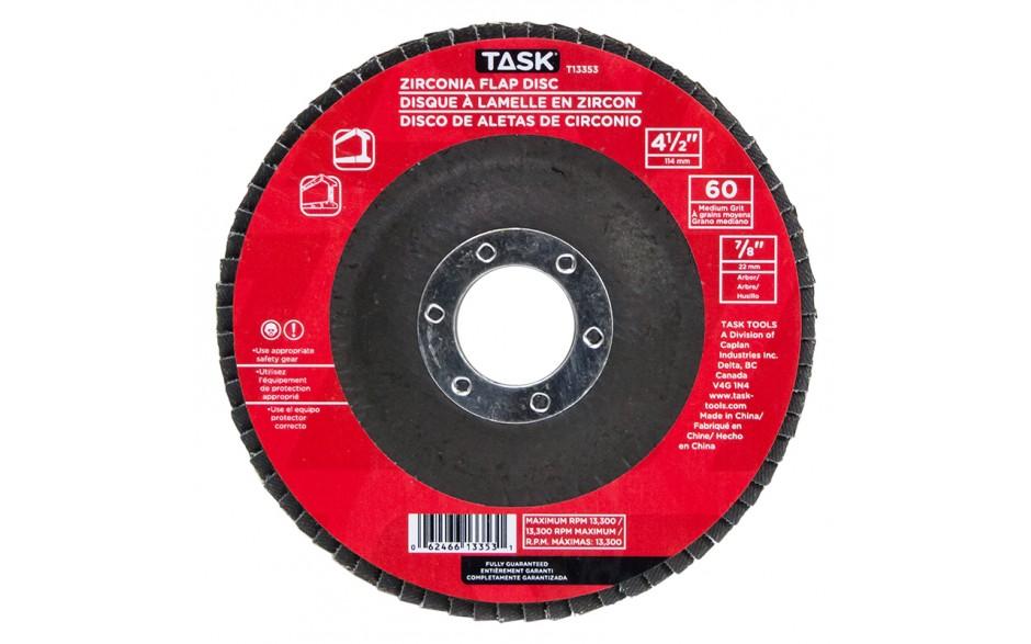 """4-1/2"""" 60 Grit 7/8"""" Arbor Alumina Zirconia Flap Discs - Bulk"""