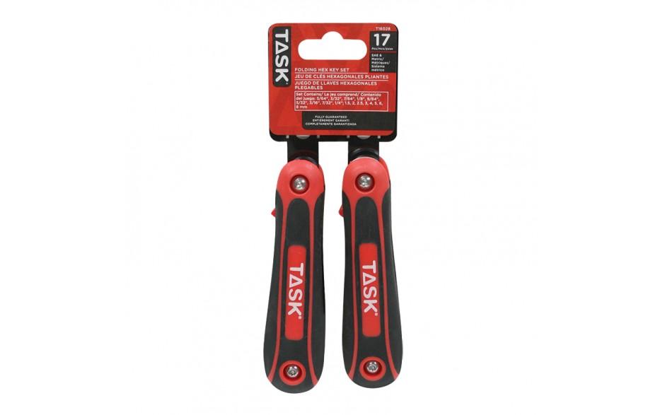 17pc Metric & SAE Soft Grip Hex Key Set - 2/pack