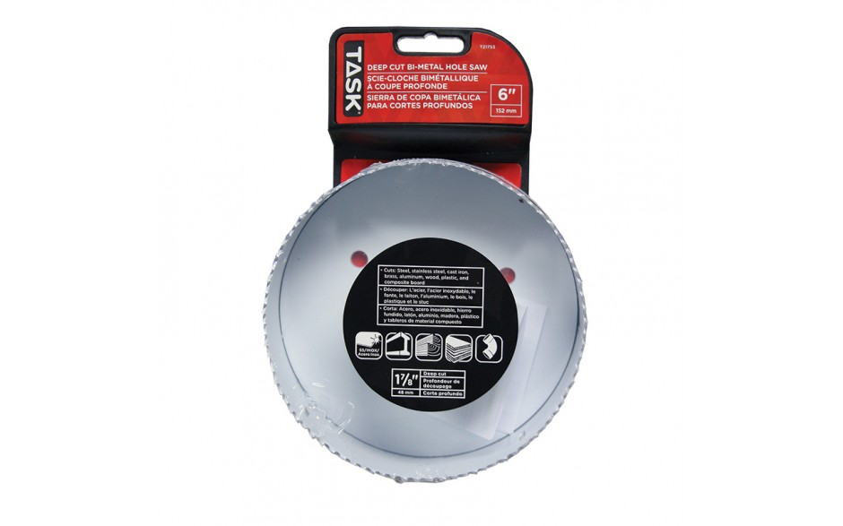 "6"" Deep Cut Bi-Metal Hole Saw  - 1/pack"