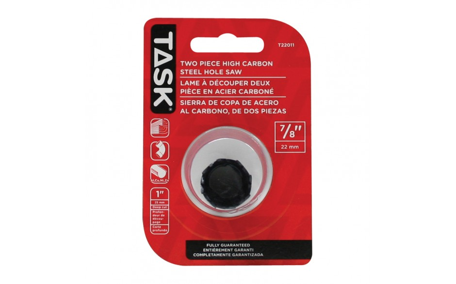 """7/8"""" Carbon Steel Hole Saw - 1/pack"""
