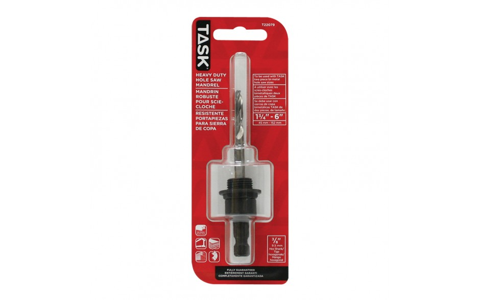 """3/8"""" Hole Saw Mandrel for 3/4"""" - 6"""" - 1/pack"""
