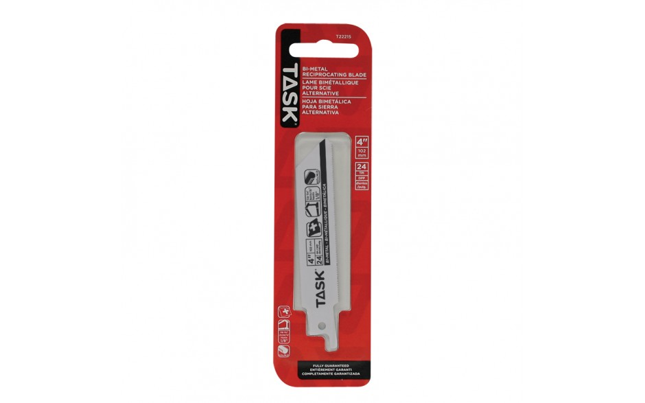 """4"""" 24 TPI 0.035"""" Reciprocating Blade for Metal Cutting up to 1/8"""" - 1/pack"""