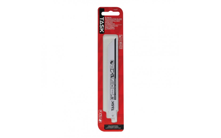 """6"""" 18 TPI 0.035"""" Reciprocating Blade for Metal Contours & Tubing 1/8""""-3/16"""" - 1/pack"""