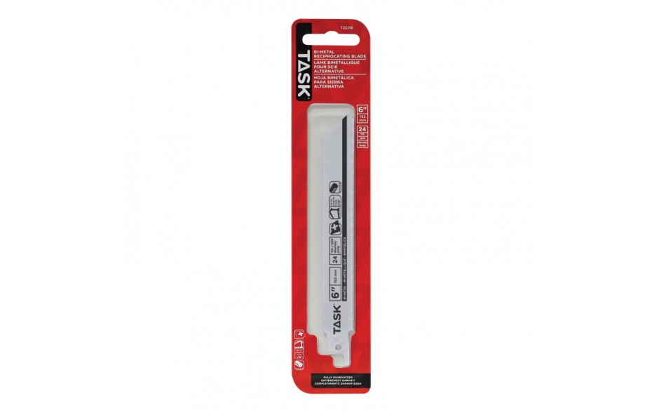 """6"""" 24 TPI 0.035"""" Reciprocating Blade for Metal Contours & Tubing up to 1/8"""" - 1/pack"""