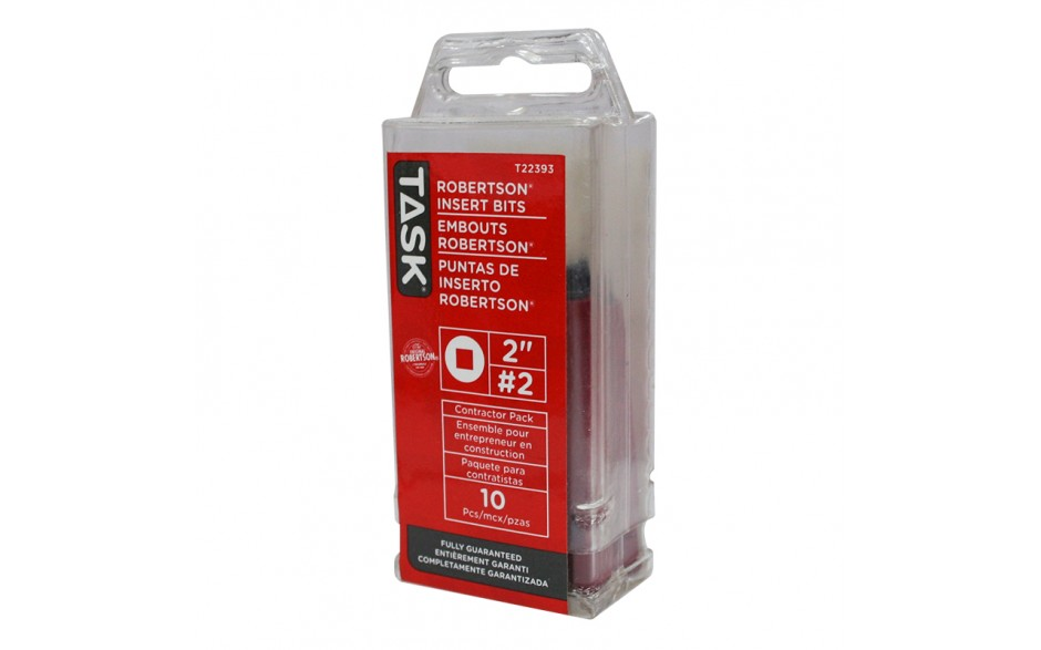 """#2 Robertson® 2"""" Red Two-Piece Screwdriver Bit - 10/tube"""
