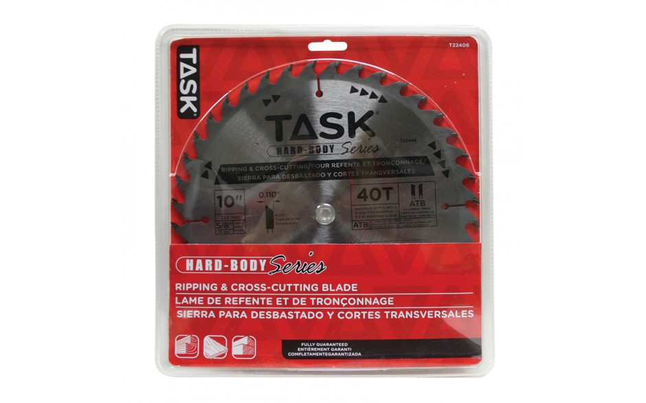 "10"" 40T ATB Hard Body Ripping & Cross-Cutting Blade - 1/pack"