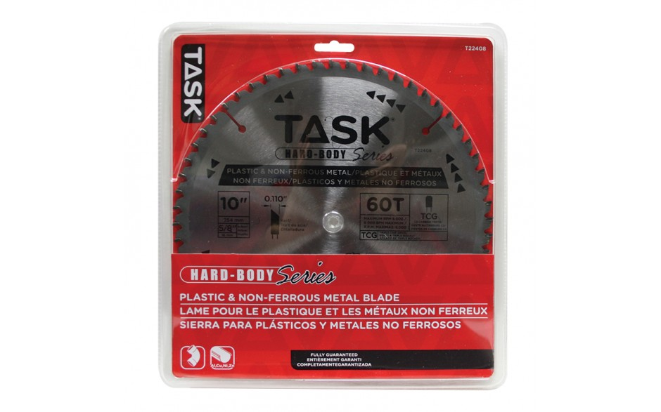 "10"" 60T TCG Hard Body Plastic & Non-Ferrous Metal Blade - 1/pack"