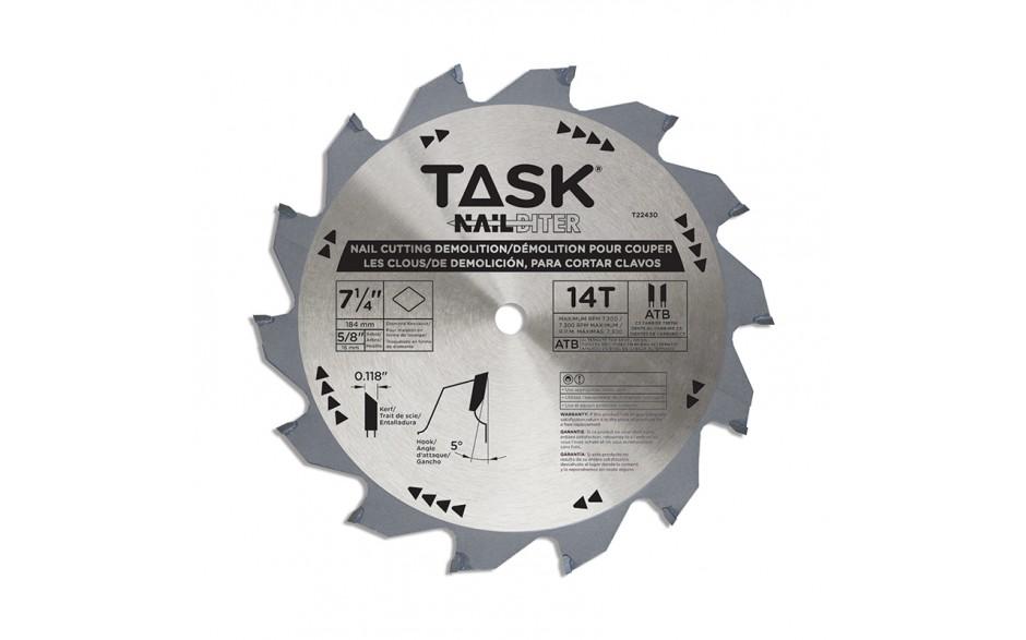 "7-1/4"" 14T ATB Hard Body Nail Cutting Blade - 1/pack"