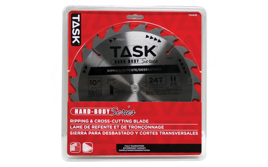 """10"""" 24T ATB Hard Body Ripping Blade - 1/pack"""